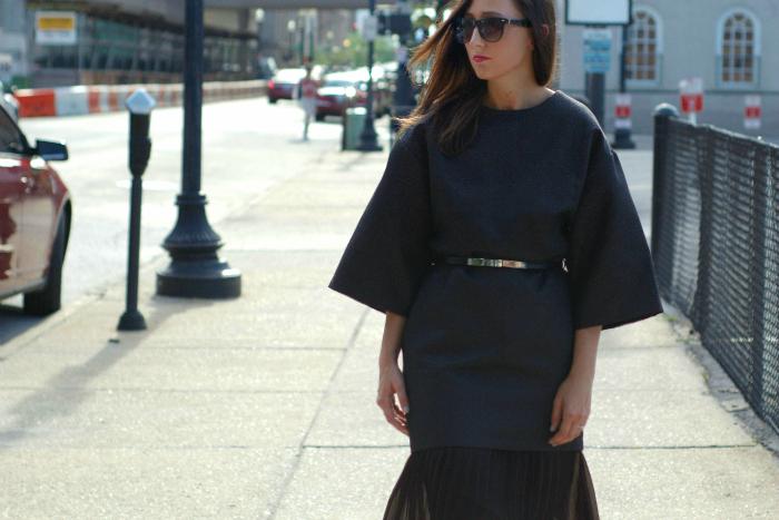 kimono and pleats style