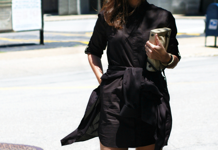 button down dress street style 1 n