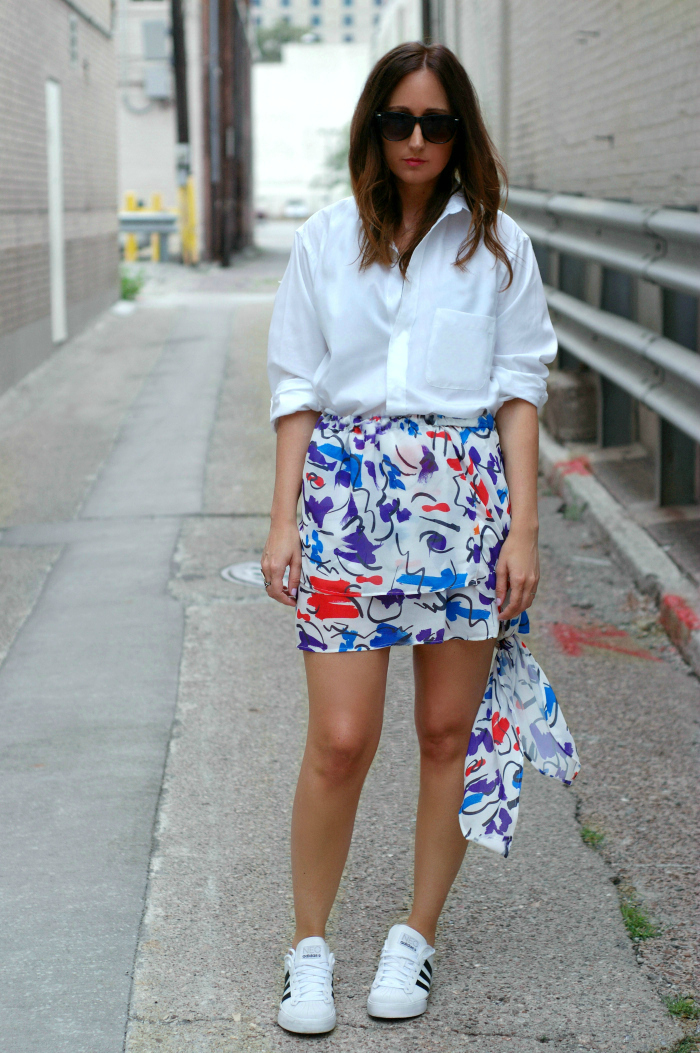 graffiti print skirt style 4