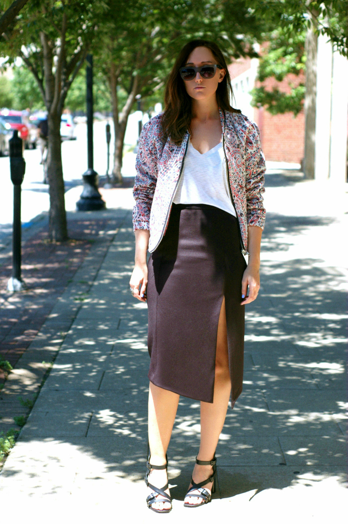 pattern bomber jacket