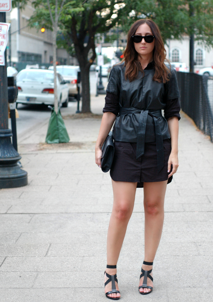 leather top on style blog