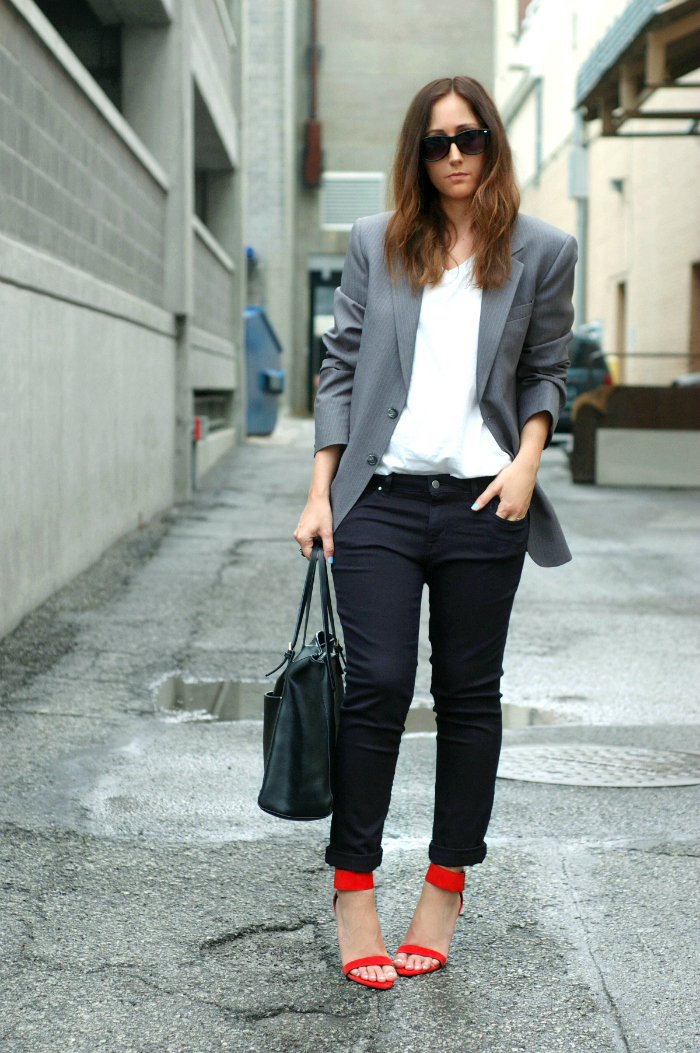 pinstripe blazer style