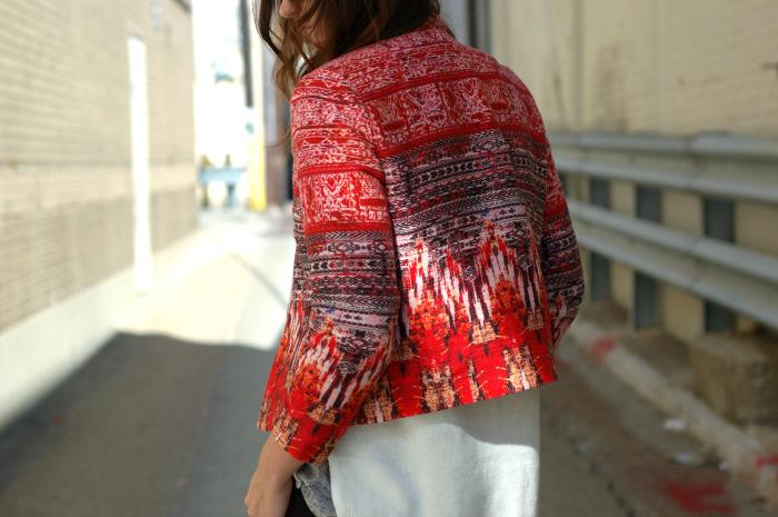 print jacket new