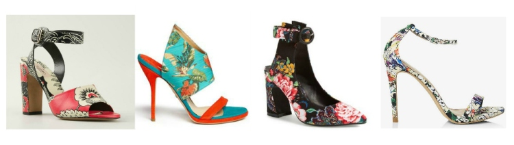 collage floral footwear big