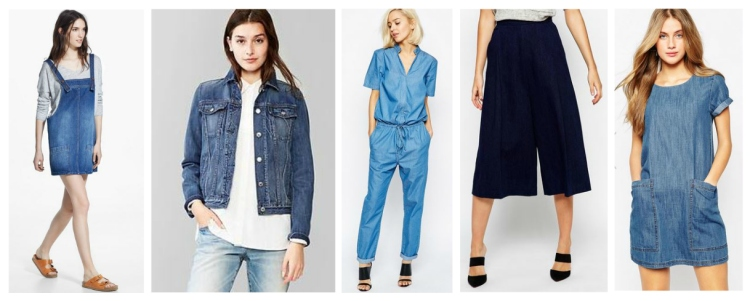 denim collage style