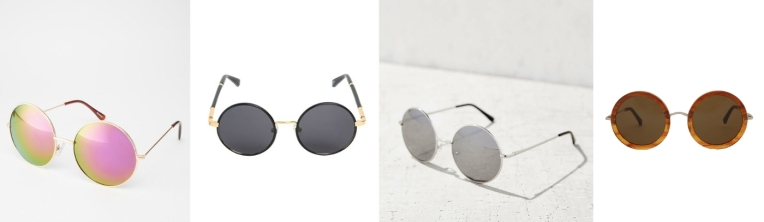 round sunglasses collage