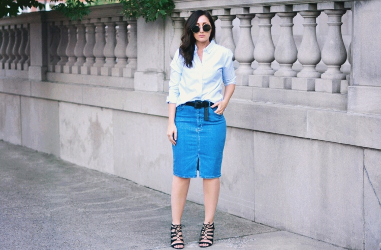 denim skirt style fashion new