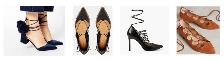 Lace up Heels collage