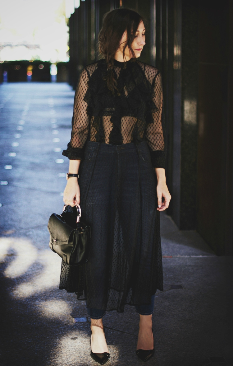 dress over pants trend