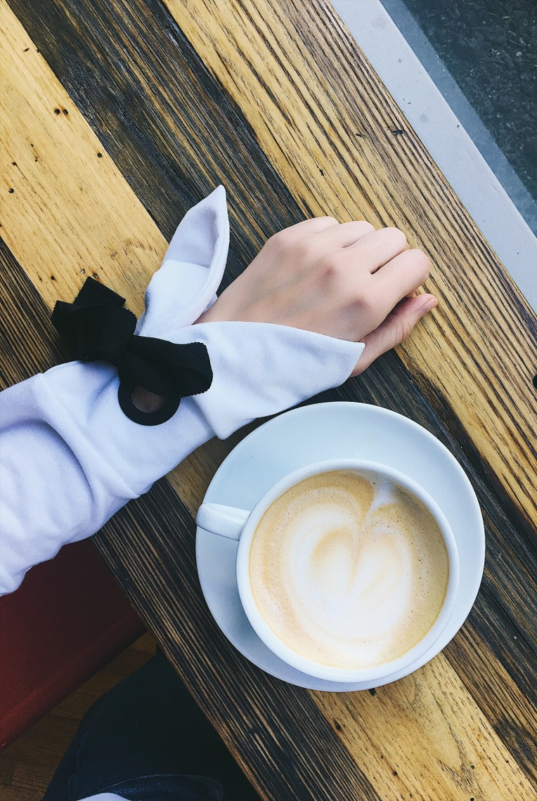 Bow Sleeve and Coffee