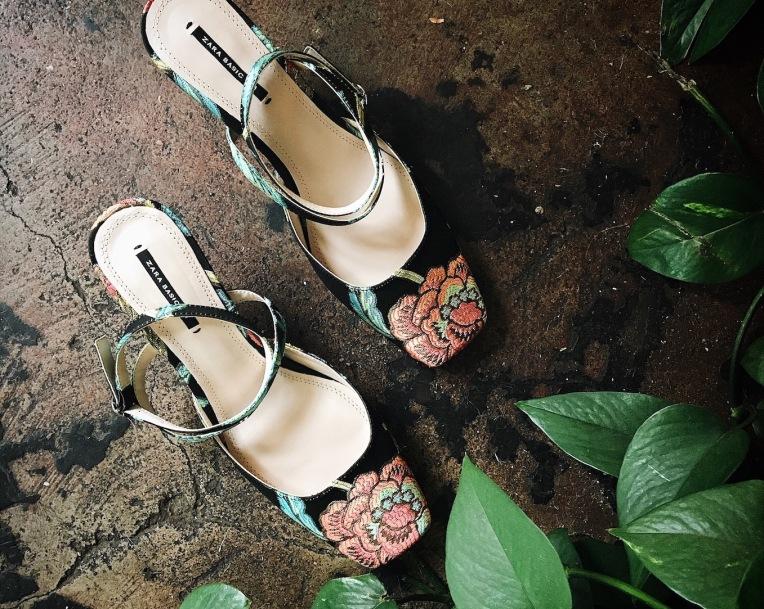 floral footwear