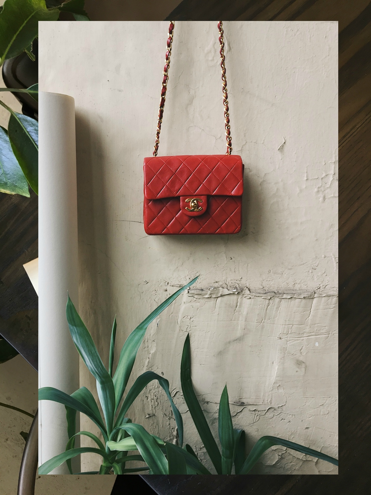 red chanel bag
